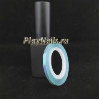 Лента Голубая Голография, 3 мм