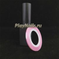 Лента Розовая Голография, 2 мм