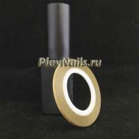 Лента Золото Глиттер, 2 мм