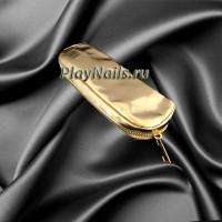 Косметичка чехол для хранения кистей, золото