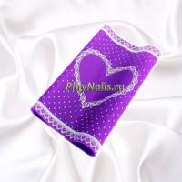 Коврик силиконовый Love, Фиолетовый