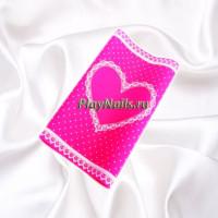Коврик силиконовый Love, Ярко-Розовый