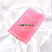 Коврик силиконовый Love, Розовый